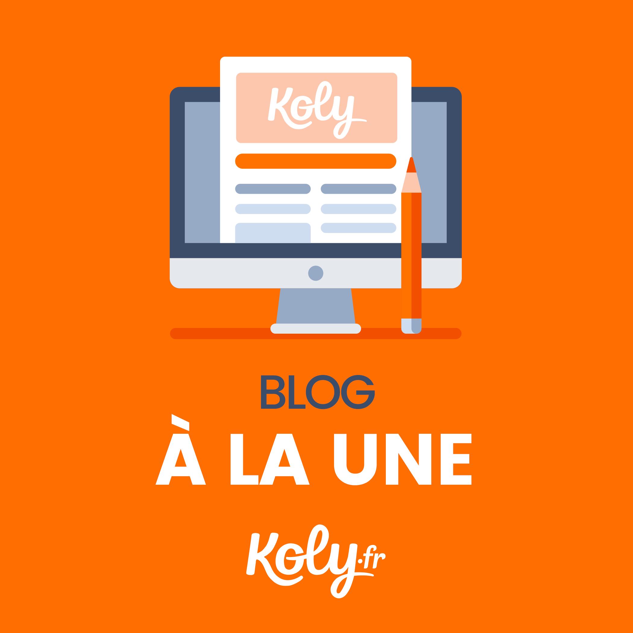Logo Koly s'illustre dans un blog