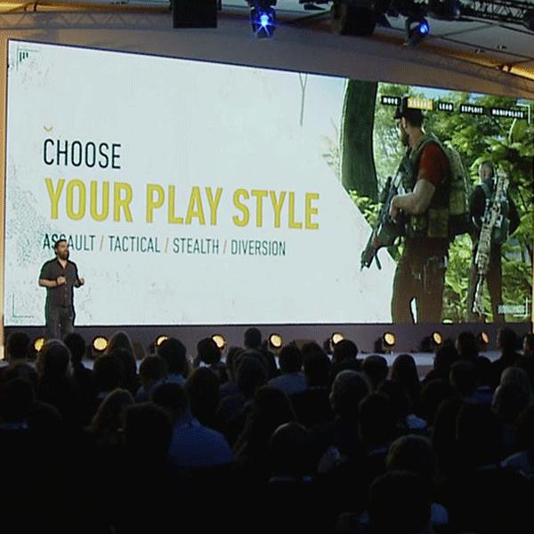 Logo Présentation Keynote pour Ubisoft Ghost Recon Wildlands